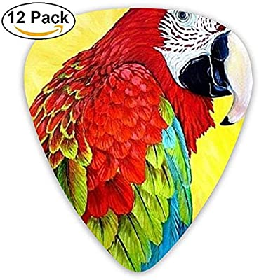 Black Assorted Poll Parrot Bird Bass Grip Guitar Picks 12 Packs,0.46/0.73/0.96 Mm Guitar: Amazon.es: Instrumentos musicales