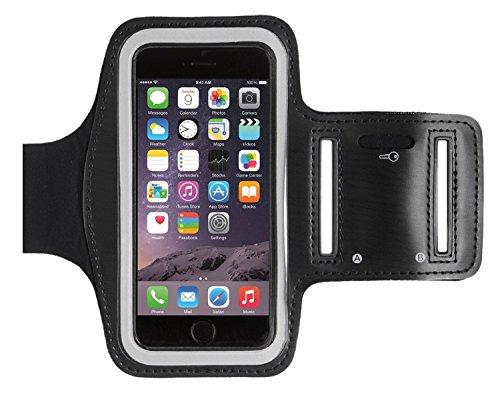 KHOMO Sportarmband voor Apple iPhone 8, iPhone 7, iPhone 6/6S – zwart