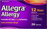 Allegra Allergy Non-Drowsy Indoor and Outdoor Allergy Tablets Original Prescription Strength, 24 ct (Pack of 24)