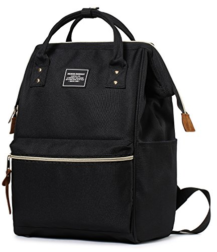 SEMIR 13 Inch Fashion Stylish Ladies Computer Best Business Travel Picnic College Backpacks School Canvas Laptop Bookbag With Laptop Compartment Water Bottle Bookbags Backpack for Women Men Notebook by SEMIR