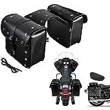 Waterproof Motorcycle Saddle Bags,Tail Bag Side Bag Tool Bag Cruise Vehicle Bag for Harley Sportster Softail Honda Suzuki Yamaha Cruiser-One Pairs