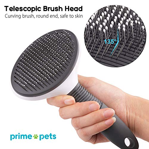 Dog Brush, Self Cleaning Slicker Brush for Dogs and Cats, Pet Dog Grooming Brush, Effectively Reducing Shedding by Up to 95%, Easy to Clean -Professional Pet Grooming Brush Removes Mats, Tangles, and Loose Hair