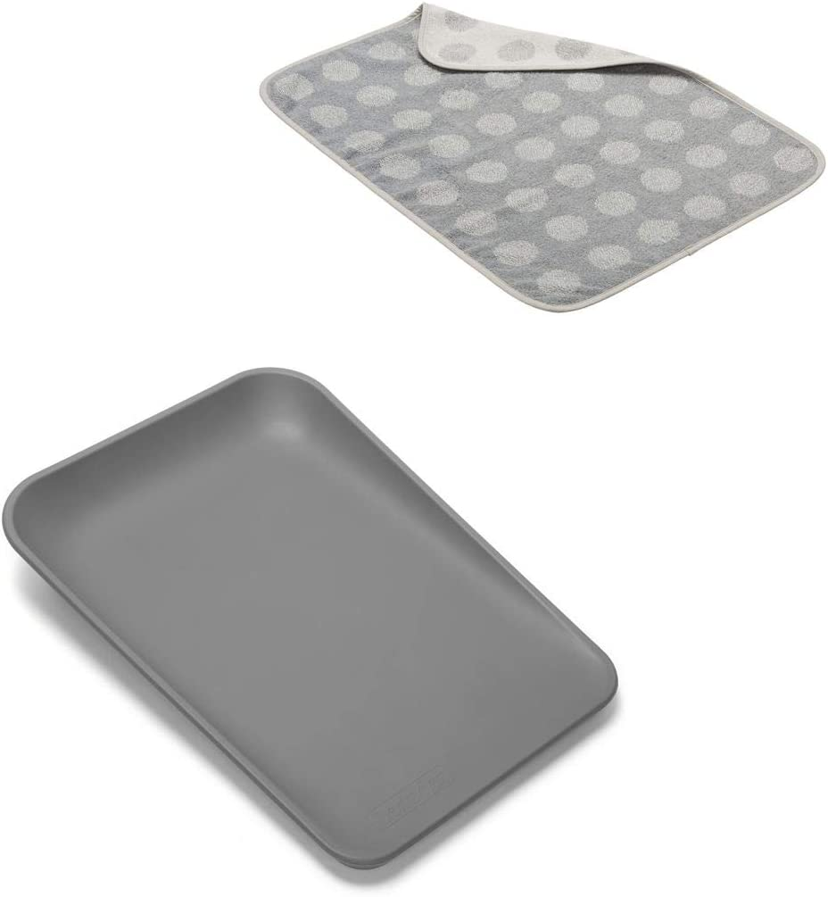 Topper in Cool Grey Leander Matty Changing Pad in Dusty Grey