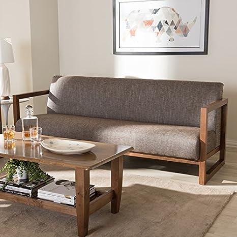 Amazon Com Baxton Studio Philomela Mid Century Modern Grey