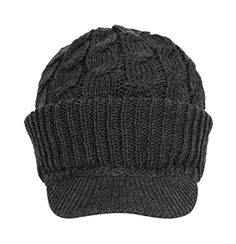 7dcddab4d1e ... purchase cheap 51d97 8cd54 Newsboy Cable Knitted Hat with Visor Bill  Winter Warm Hat for Women ...