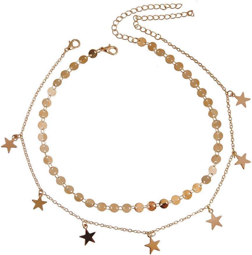 Qiiueen💦Collares Mujer, Collar Estilo Estrella De Cinco Puntas Estilo Verano: Amazon.es: Joyería