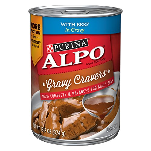 Purina ALPO Gravy Wet Dog Food; Gravy Cravers With Beef - 13.2 oz. Can