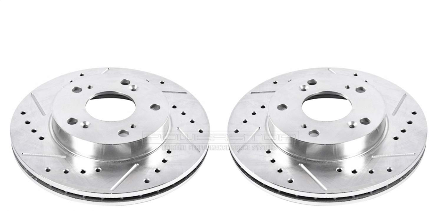Power Stop K3118 Front Z23 Evolution Brake Kit with Drilled//Slotted Rotors and Ceramic Brake Pads