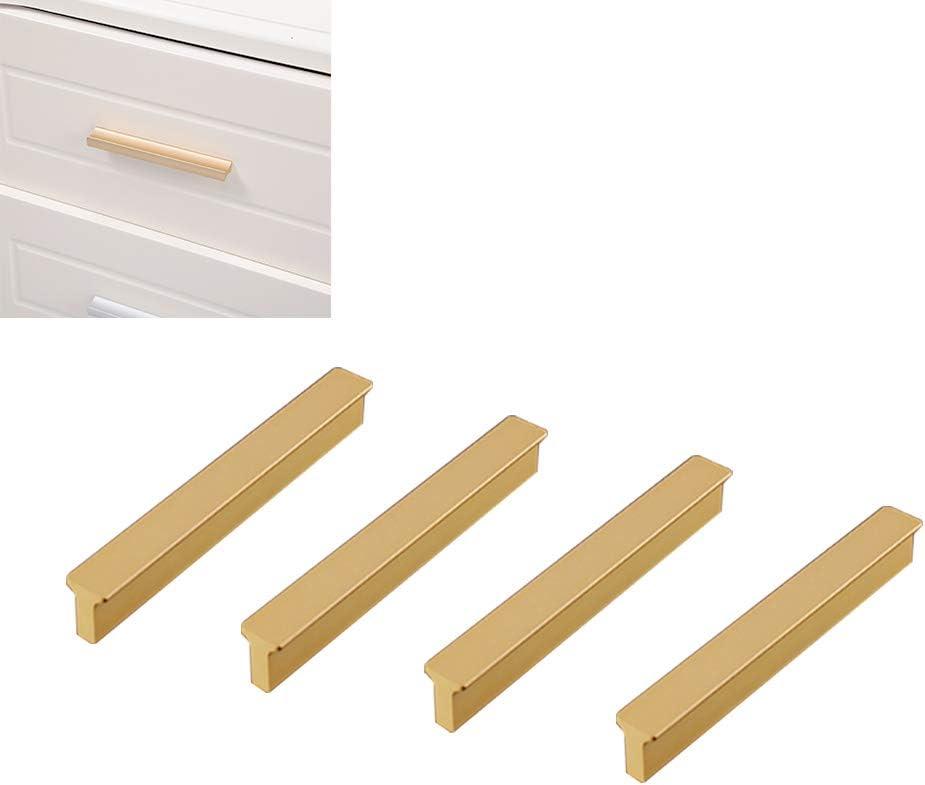Tiberham - Tiradores cuadrados para gabinete, 4 unidades, estilo moderno, mango de cajón resistente para cocina, baño, armario (centro de 64 mm): Amazon.es: Bricolaje y herramientas