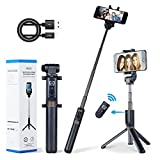 Apexel 2-in-1 Extendable Selfie Stick Monopod Tripod Stand with Wireless Remote Shutter for iPhone 11/11 Pro/11 Pro Max/XS/XS Max/XR/X/8/8+, Galaxy Note 10/10+/S10/S10+, OnePlus, Huawei and More