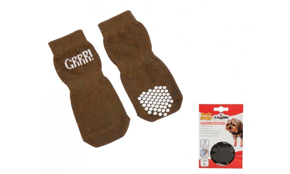 'marron Chaussettes antidérapantes pour chien GRRR