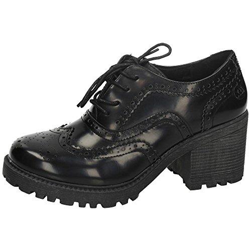 Zapatos moda blucher XTI ZAPATOS TACÓN talla 39 NEGRO POLIPIEL