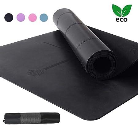 AJ Esterilla Yoga Caucho Natural Antideslizante Colchoneta ...