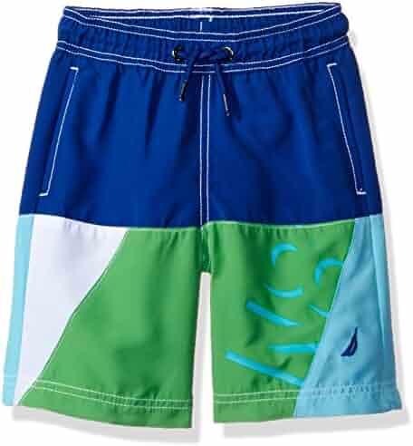 Nautica Big Boys' Colorblock Swim Trunk