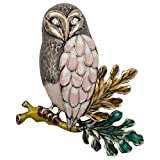 Hiddleston Hiddeston Enamel Fleck Owl Brooch Pin Bird Accessories Costume Jewelry For Women Her