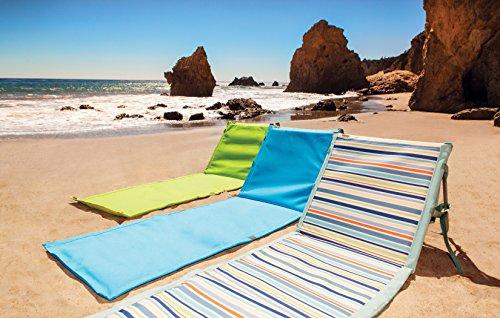Picnic Time Beachcomber Portable Beach Mat Blue Lawn