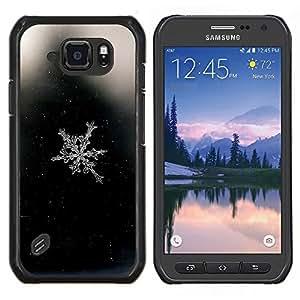 Ventana blanca de cristal- Metal de aluminio y de plástico duro Caja del teléfono - Negro - Samsung Galaxy S6 active / SM-G890 (NOT S6)