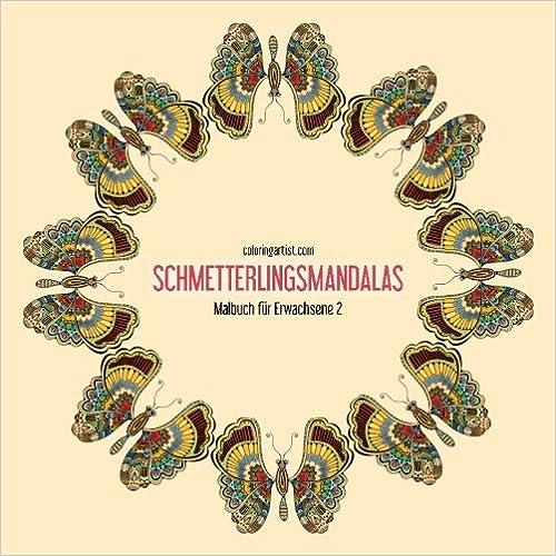 Schmetterlingsmandalas-Malbuch für Erwachsene 2: Volume 2