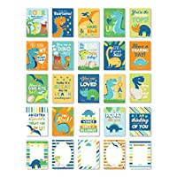 25 Dinosaur School Lunch Box Notes For Kids, Inspirational Motivational Cards Boys Girls From Mom, Encouraging Student Children Teens, Thinking of You Positive Affirmation Encouragement Lol Fun Love