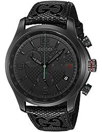 Swiss Quartz Stainless Steel Black Men's Watch(Model: YA126244)
