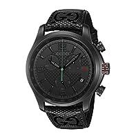 Gucci Swiss Quartz Stainless Steel Black Men's Watch(Model: YA126244)