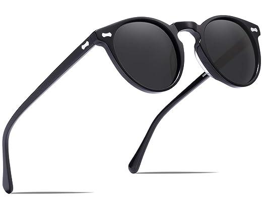 Carfia Hombres Gafas de Sol Polarizadas Retro Estilo gafas UV400 gafas de sol para conducir viajes