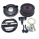 XKH Group Motorcycle Black Skull Grille Air Cleaner Intake Filter System Kit For Harley Davidson 2007-later XL Sportster 1200 Nightster 883 XL883 Low XL1200L Seventy Two Forty Eight