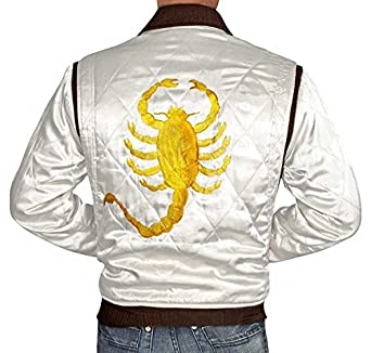 Amazon.com: Drive Jacket - White Satin Mens Quilted Jacket