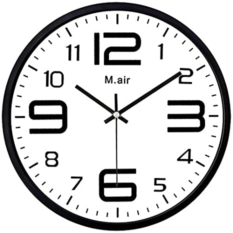 Amazon.com: Ysayc Metal Wall Clock Bedroom Living Room Simple Creative Quartz Clock, Nails White: Home & Kitchen