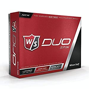 Wilson Duo Spin Golf Balls White 1 Dozen from Wilson