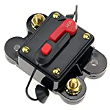 12V-24V DC Circuit Breaker Trolling Motor Auto Car Marine Boat Bike Stereo Audio Inline Fuse Inverter Waterproof with Manual Reset 140A 140Amp