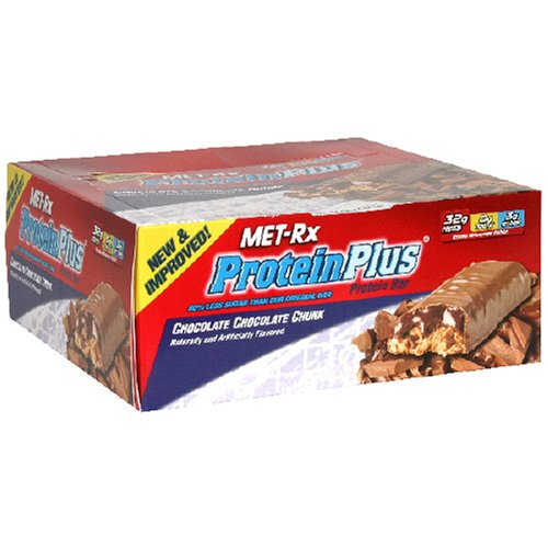 Met-Rx Protein Plus Protein Bar, Chocolate Chocolate Chunk, 3-Ounce Bars (Pack of 12)
