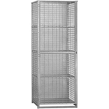 Salsbury Industries Unassembled Security Cage Storage Locker, Large