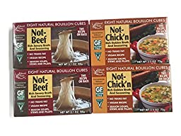 Not-Beef + Not-Chick\'n Edward & Sons Bouillon Cubes, Variety Set [2 of Each]
