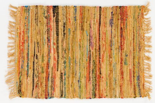 Sturbridge Country Rag Rug in Mustard 24'' x 72''