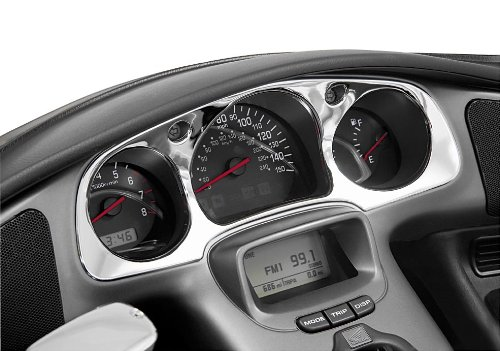Show Chrome Instrument Panel Accent for Honda GL1800 01-05
