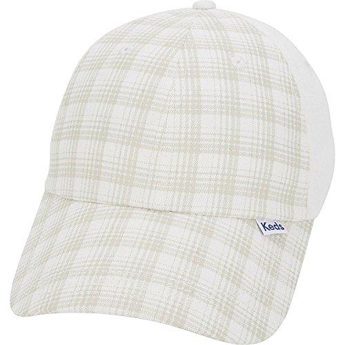 (Keds Brushed Plaid Cap (One Size - Egret))
