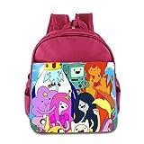 Kids Adventure Time School Backpack Cartoon Baby Boys Girls School Bags Pink