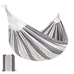 Garden and Outdoor Best Choice Products 2-Person Indoor Outdoor Brazilian-Style Cotton Double Hammock Bed w/Portable Carrying Bag – Steel hammocks
