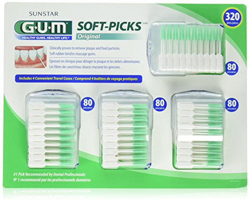 HEALTHY GUMS, HEALTHY LIFE SOFT PICK, CONVENIENT 4 TRAVEL CASES 320 SOFT PICKS