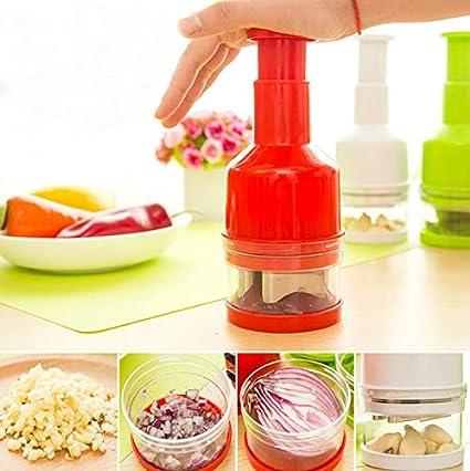 Speedy - Picadora manual de alimentos para utensilios de cocina 21.5x7.8x7.8cm rosso