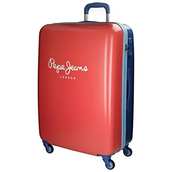 Pepe Jeans Bicolor Boy Maleta, 92.74 litros, Color Rojo: Amazon.es: Equipaje