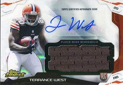 Terrance West Autographed 2014 Topps Finest Rookie Jersey Card ...
