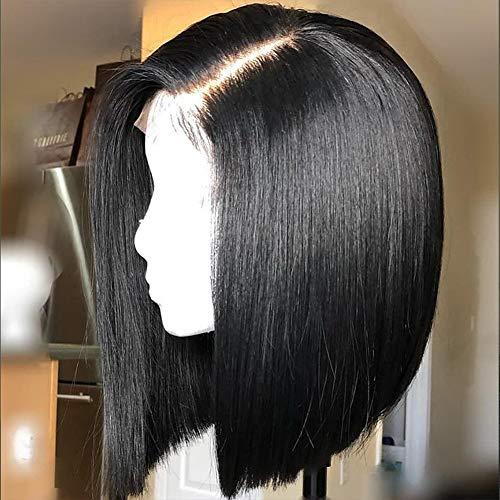 IWISH Bob Wig Lace Front Human Hair Wig with Baby Hair Brazilian Short Bob Wig Human Hair Straight Machine Made Human Hair Wigs for Women(14'')