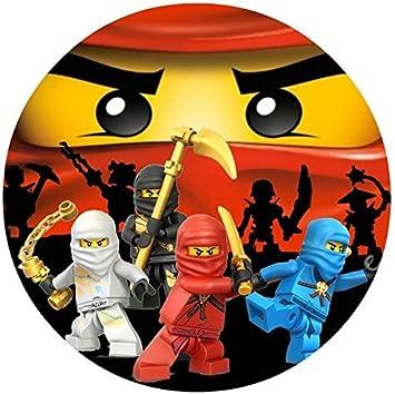 Amazon.com: Ronda de Ninjago Lego Ninja Comestible imagen ...