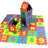 Goodfans 36PCS 5x5 cm Mini Baby Kids Alphanumeric Educational Puzzle Foam Mats Blocks Toy Gift Puzzle Play Mats
