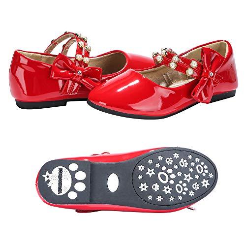 PANDANINJIA Toddler/Little Kids Cheryl Princess Uniform School Ballet Flower Mary Jane Girls Flats Dress Shoes