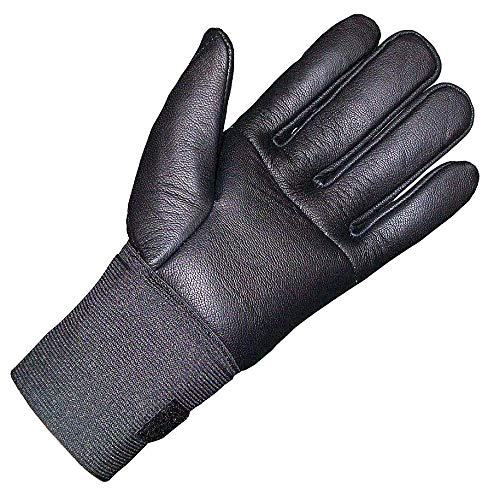 Impacto Anti-Vibration Gloves, Leather, Air Gel Padding Palm Material, Black, L, EA 1 - IP473-50LL