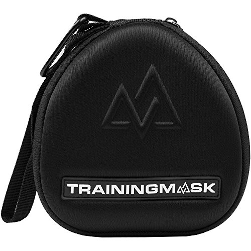 Training Mask Hard Travel Carry Case [All Training Masks] - Internal Storage Zipper Pouch With Softwebbing For Accessories (Black)