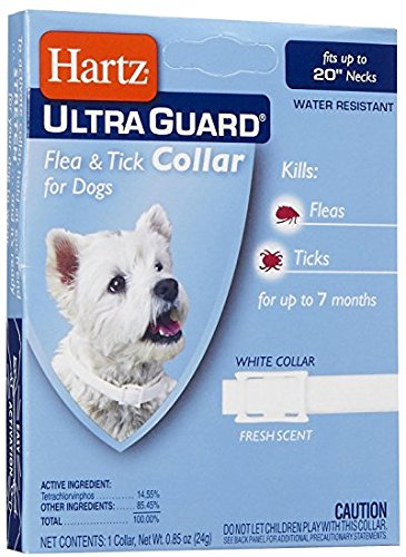 """HARTZ - Ultra Guard Flea & Tick Collar for Dogs (fits up to 20"""" Necks)"""